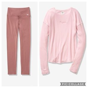 Victoria's Secret Pink Waffle Crew+Cotton Legging